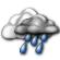 Mostly Cloudy with Light Showers